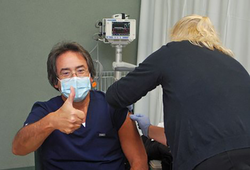Dr. Paul Bradley Gets Vaccinated